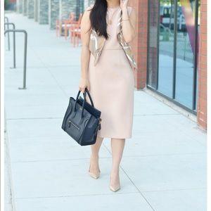 Ann Taylor blush nude sleeveless dress 0 NWT